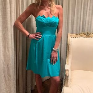 Turquoise color Trina Turk dress